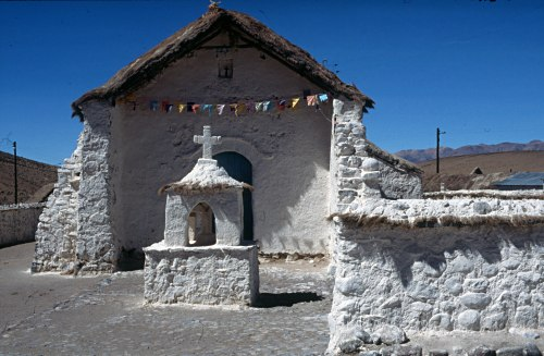 Stone Cross in the Altiplano, Chile
