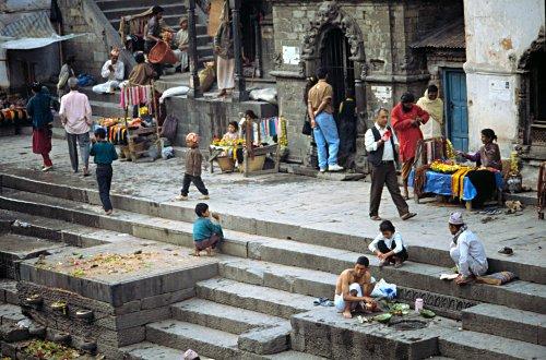 The ghats of Kathmandu at Pashupatinath