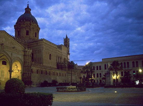 The Cathedral of Palermo in the blue hour