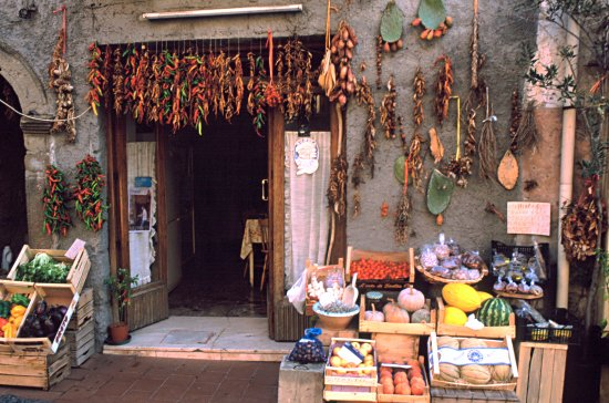small shop selling fruit and vegetables