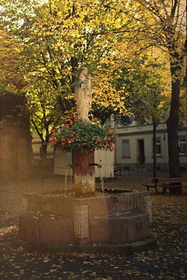small fountain, Biebrich, Wiesbaden, Germany