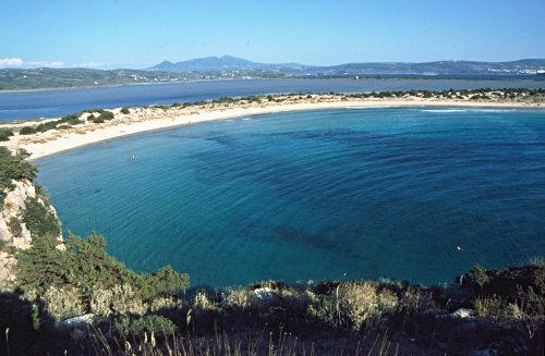 Voidokilia Bay near Pylos, Peloponnese