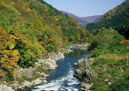 Mountain River, Japan