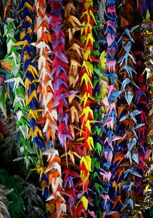 Photo of paper Cranes in Hiroshima