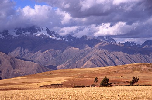 Fields and Mountains, near Cusco