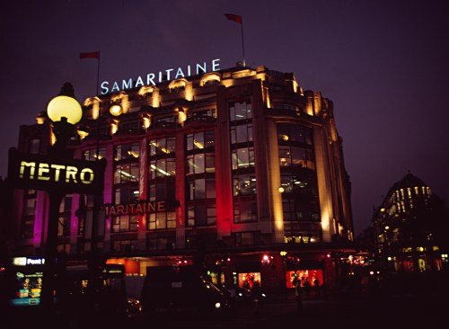Night shot from Pont Neuf, Paris