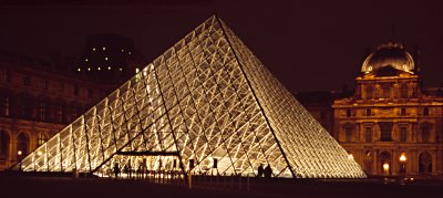 The new entrance to the Louvre