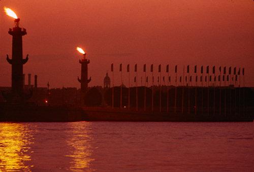 Rostrum Columns, Leningrad (today again St Petersburg)