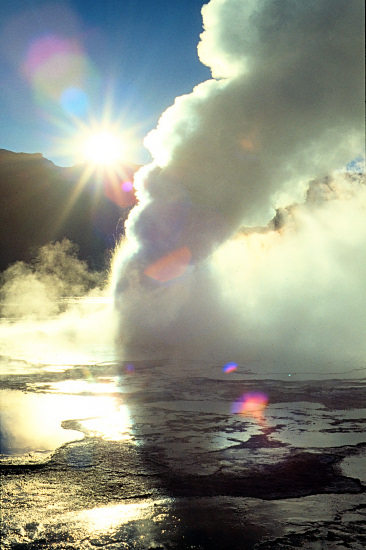 El Tatio, a few hours drive from San Pedro de Atacama