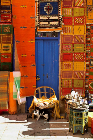 Moroccan carpet shop