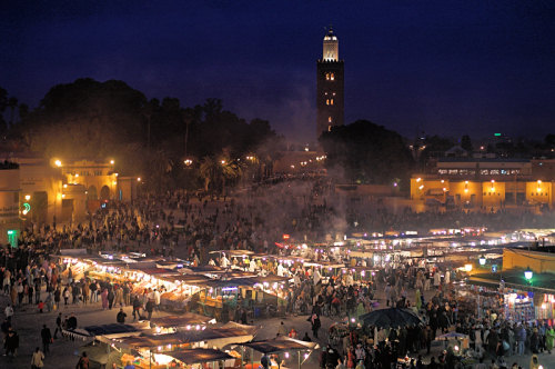 Night over Place Jemaa el Fna, Marrakesh