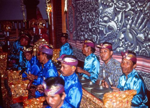 Gamelan orchestra in Ubud, Bali