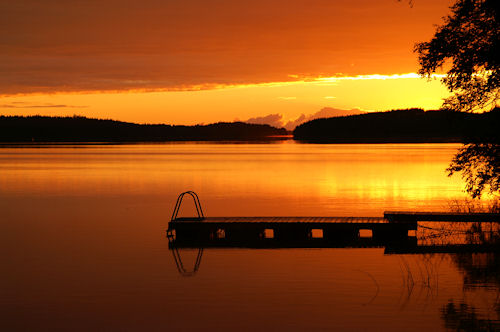 Sunset, Puruvesi Lake, Finland
