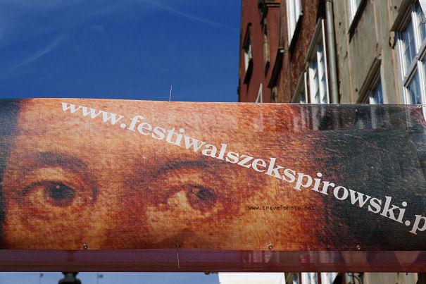 Shakespeare banner in Gdansk