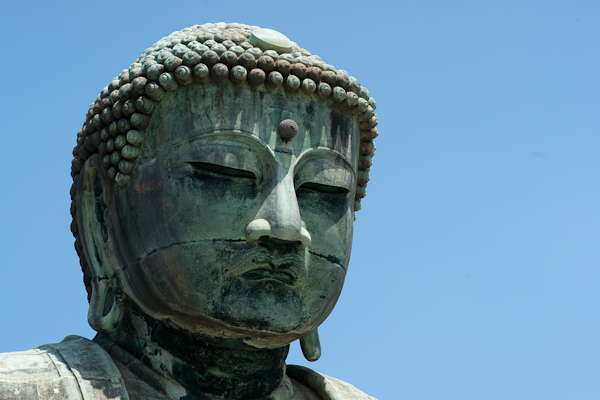 Great Buddha statue (headshot)