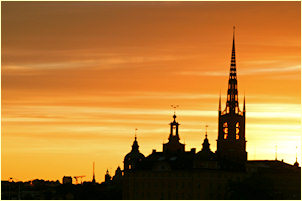 Sunset in Stockholm (Sweden) - photo: Laurenz Bobke