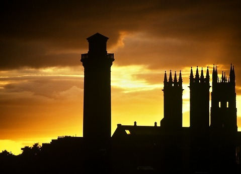 Sunset in Glasgow.
