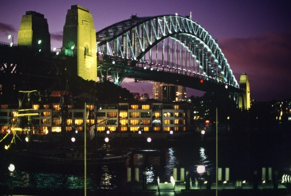 Sydney Harbour Bridge at night. Photo: L. Bobke