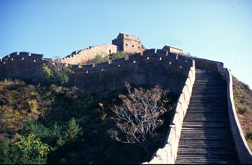 Great Wall and stairs, Jin Shan.