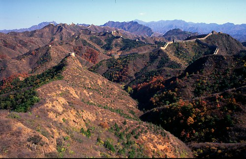 Mountains as seen from Great Wall (Jin Shan).