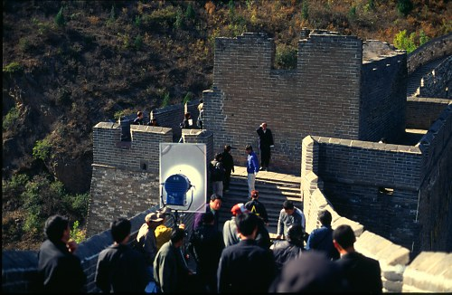 """""""The making of"""" - a perfect site for a film (Jinshan)."""