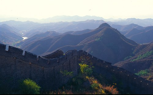 Great Wall and mountains, Jin Shan .