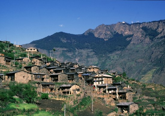 village in the Himalaya.