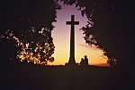Australia III: Kakadu National park: lovers under a cross; Darwin; evening sun