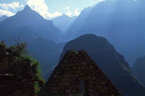 Machu Picchu: Inca house.
