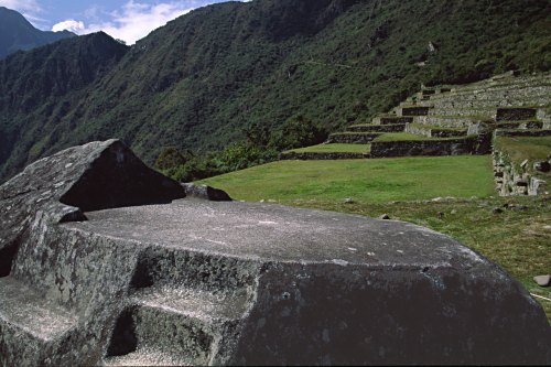 Funerary rock, Machu Picchu