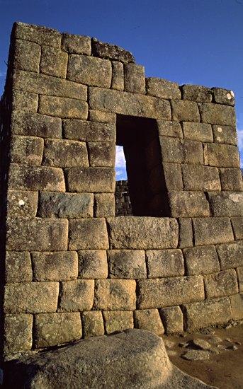 Inca walls, Machu Picchu, Peru