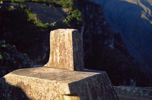 Intihuatana, - a sacred stone in Machu Picchu