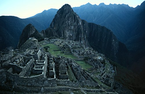 Machu Picchu before dawn