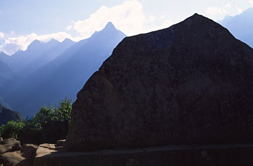 Sacred Rock, Machu Picchu. Photo: L. Bobke