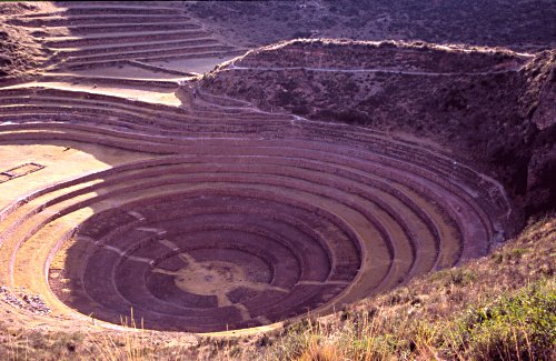 Concentric terraces of Moray, Peru