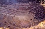 The Inca teraces look like an amphitheatre