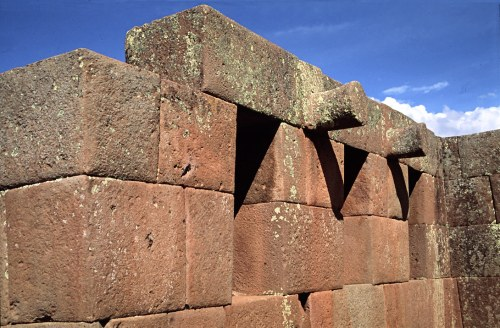 Inca walls and windows in Pisac.