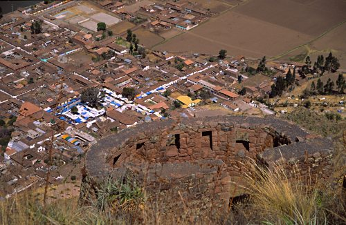 Pisac: fortress and village.