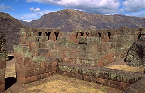 Inca walls at Pisac.