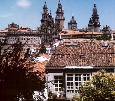 Santiago de Compostela: view of the cathedral. Photo: L. Bobke